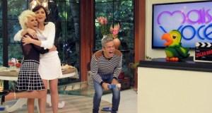 Falha Nossa! Otaviano Costa cai na gargalhada no programa (Foto: Carolina Berger/Gshow)