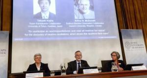 Prêmio Nobel de Física é concedido a pesquisadores por trabalho sobre neutrinosFredrik Sandberg/Agência Lusa