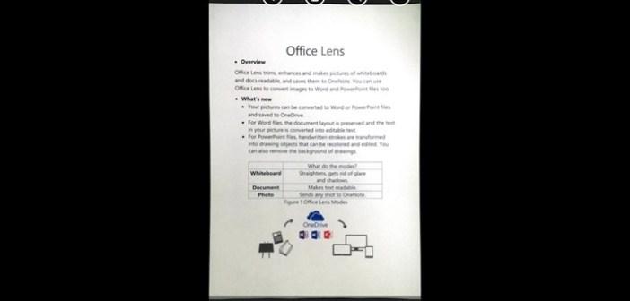 Office Lens sau cum poți face scanări de calitate cu telefonul mobil