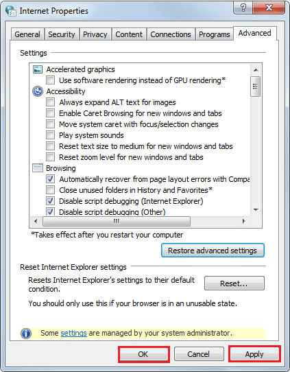 RestAdvSettings1 Guide to Speed Up Internet Explorer