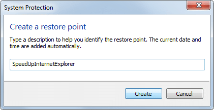 SysRestore1 Guide to Speed Up Internet Explorer
