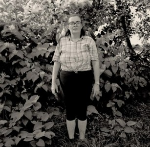 Gary Grenell, Women with Birds on Her Shoulders, 1996, (Inlcuded in the Photo Center NW Print Collection)