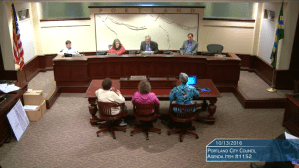 People testify on October 13th at city council, for more parking requirements.