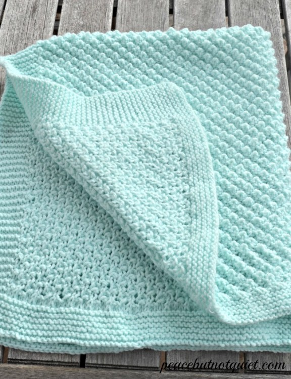 Easy Baby Knit Blanket Patterns For Beginners : Easy Knitting Patterns