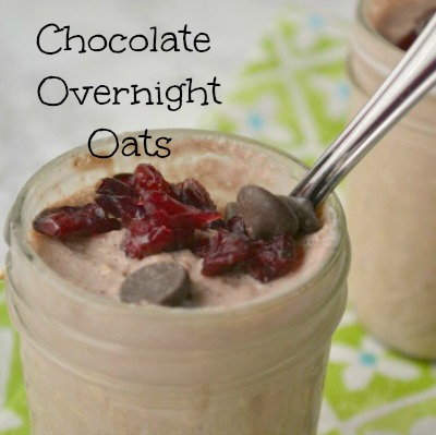 Overnight Chocolate Cranberry Oats