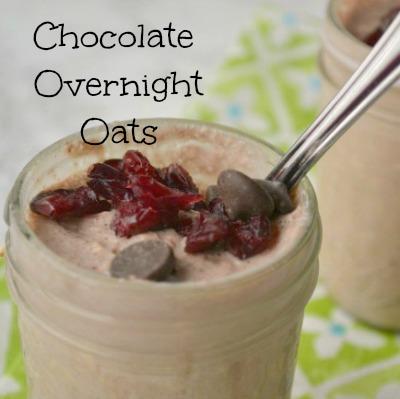 Overnight Chocolate Cranberry Oats