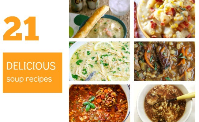 21 Deliciously Tasty, Easy Soup Recipes