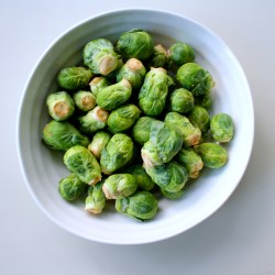 White Truffle Brussels Sprouts + Goat Cheese