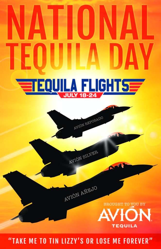 26627 TL NTD tequila flights Window Cling