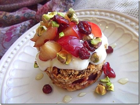 Baked Plum Oats with Pistachios (2)