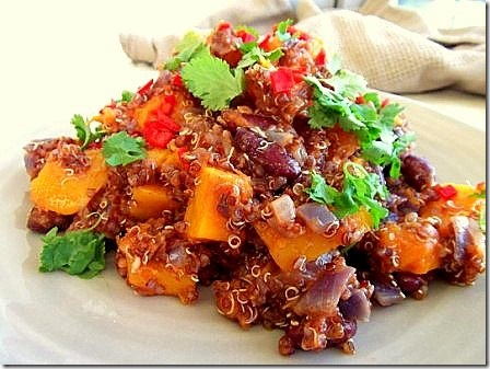 Roasted Butternut Squash Red Quinoa Chilli (9)