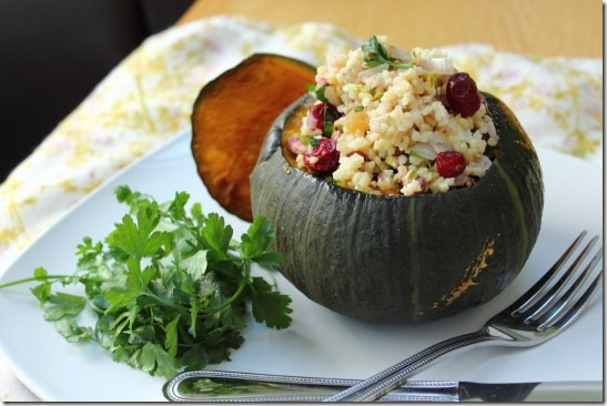 Cranberry, Pistachio and Apricot Stuffed Pumpkin (8)