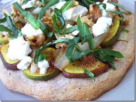 Fig Basil and Goats Cheese Pizza (7)