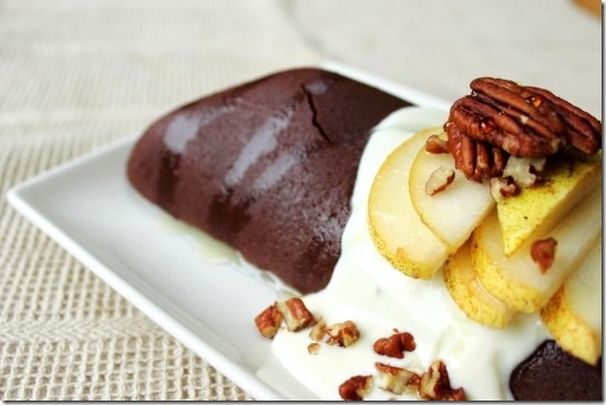 chocolate pecan pear pancake 8