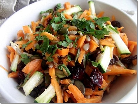 Shredded Carrot and Zucchini Salad (8)