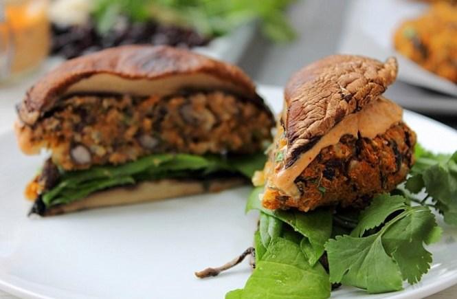 Easy Black Bean Sweet Potato Bunless Burger (31)