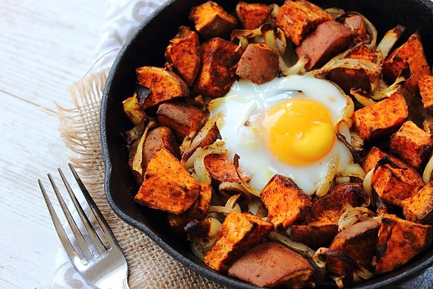 Egg and sweet potato skillet (1)
