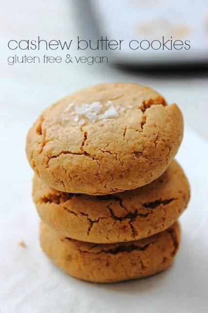 Cashew Butter Cookies Title