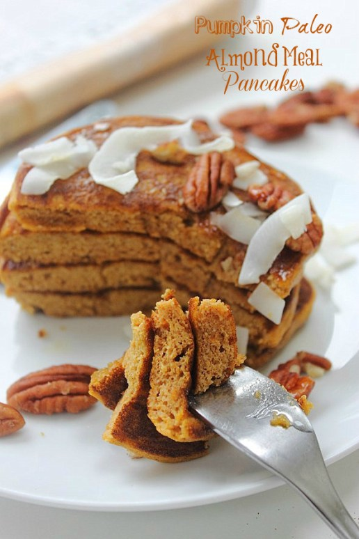 Pumpkin Paleo Pancakes Title 2