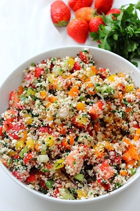 Summer Strawberry Grain Free Tabbouleh (7)
