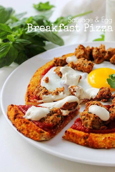 Breakfast Sausage and Egg Pizza (1) Title