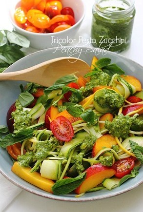 Summer Zucchini Peach & Tomato Salad (27) Title 2