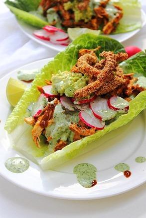 Chipotle Shredded Chicken Lettuce Tacos (2)