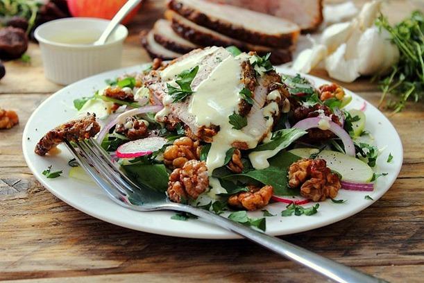 Cold Pork Roast Waldorf Salad (3)