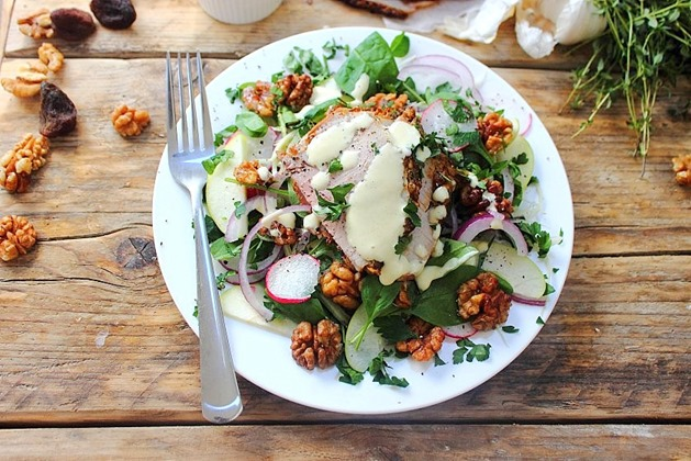 Cold Pork Roast Waldorf Salad (42)