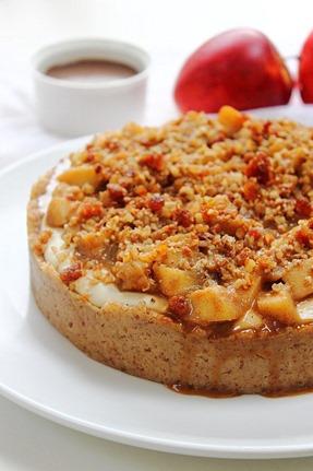 Caramel Apple Paleo Cheesecake (19)