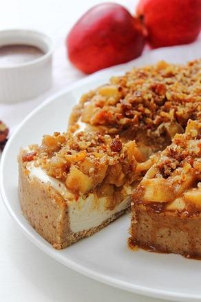 Caramel Apple Paleo Cheesecake (21)