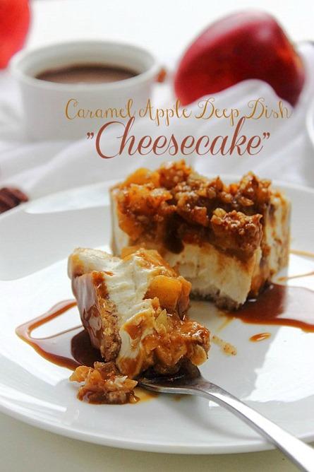 Caramel Apple Paleo Cheesecake (47) Title