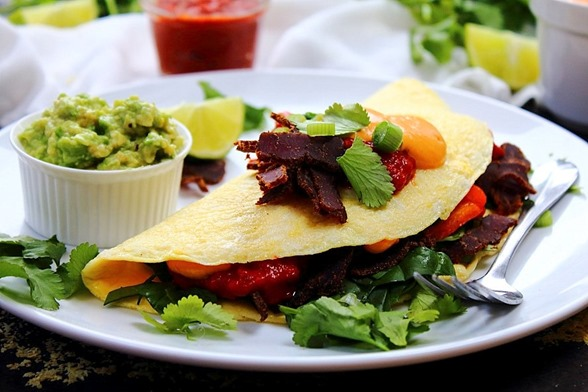 Tex Mex Omelet Queso & Salsa (5)