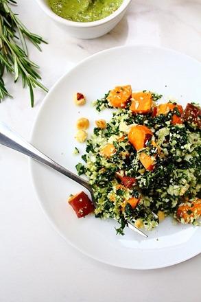Thanksgiving Sweet Potato Kale Cauliflower Rice Salad (24)