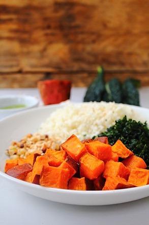 Thanksgiving Sweet Potato Kale Cauliflower Rice Salad (2)