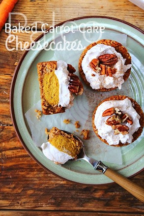 Mini Baked Carrot Cake Cheesecake (17) title