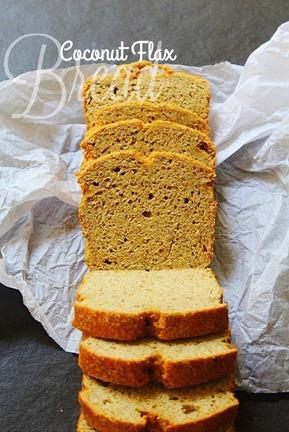 Paleo Coconut & Flax Bread  (5) title