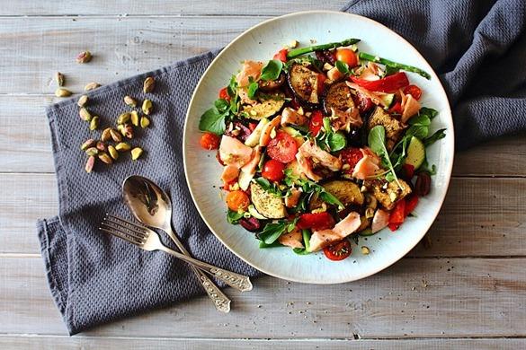 Summer Italian Smoked Salmon Salad (6)