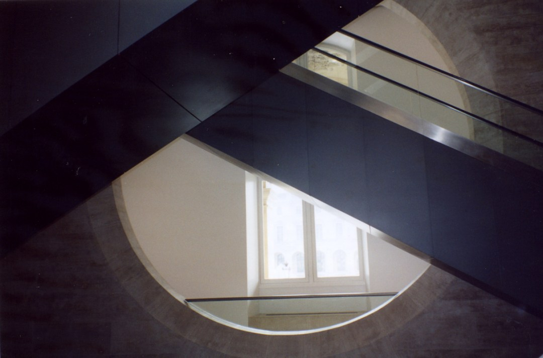 Louvre Curved Glimpse by Karen Greenbaum-Maya