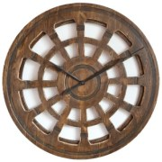 """40"""" Big Hand Carved Wooden Wall Clock to decorate your living room in the most sophisticated way"""