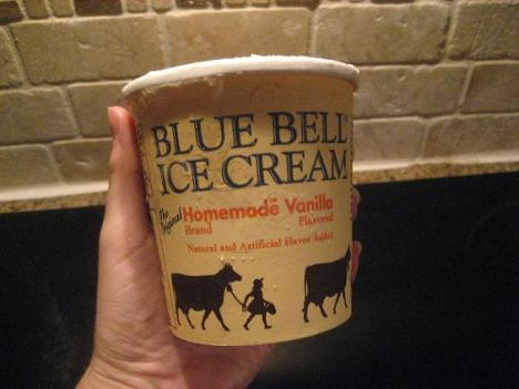 Blue Bell Vanilla Ice Cream