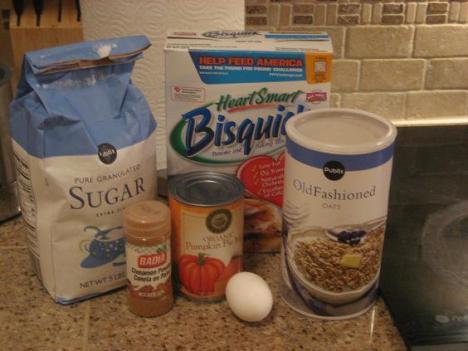 Pumpkin Loaf Ingredients