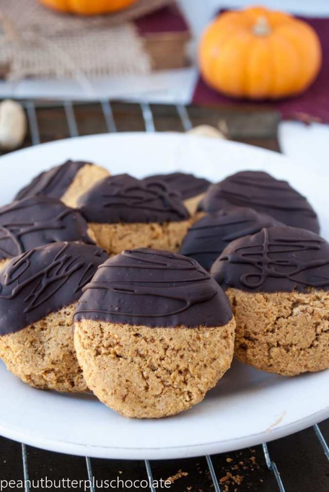 Utterly Soft Healthy Peanut Butter Chocolate Dipped Cookies