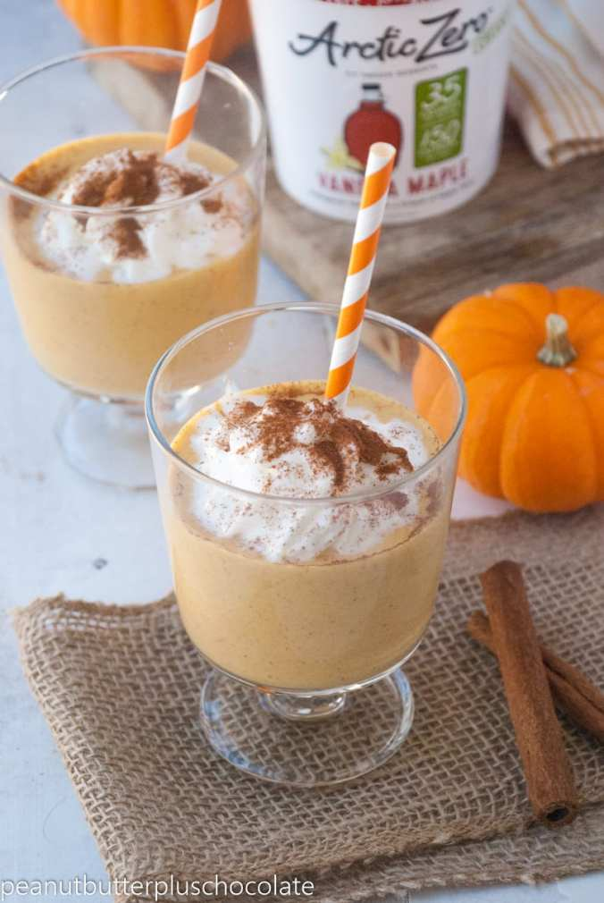 Healthy Pumpkin Pie Milkshake