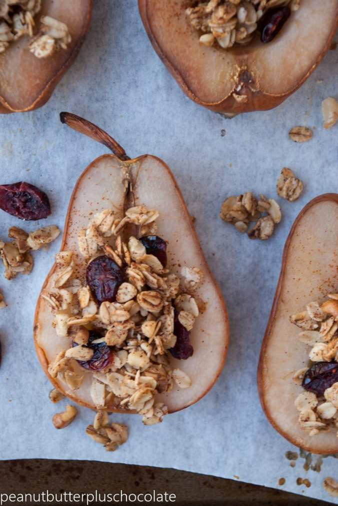 healthy-maple-oat-nut-baked-pears-with-cranberries