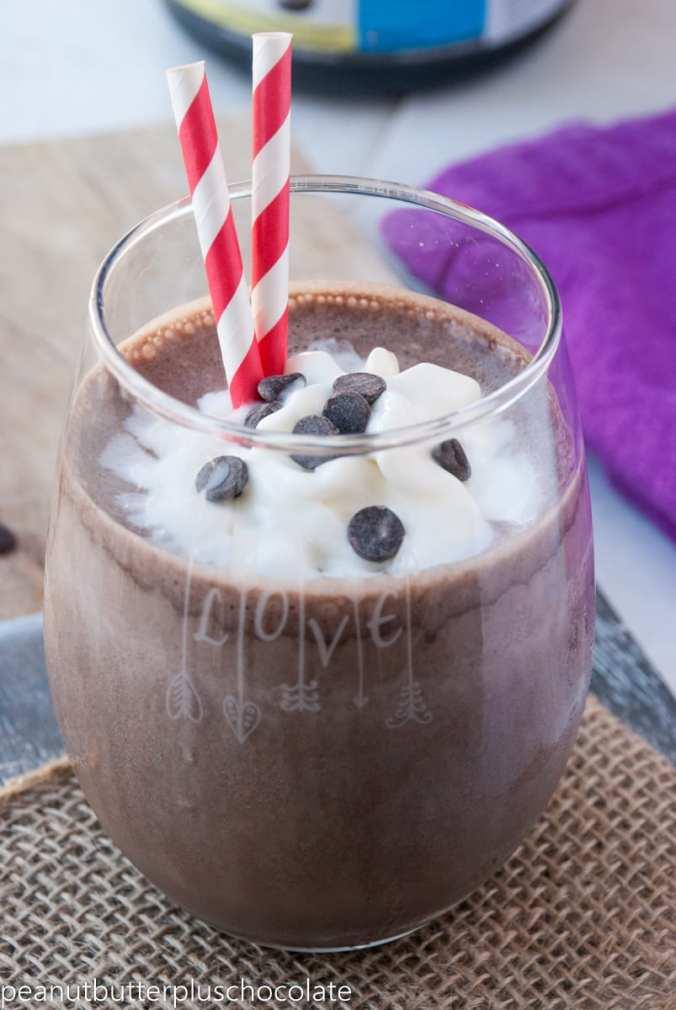 Healthy Frozen Hot Chocolate Protein Smoothie