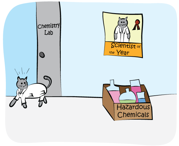 Science Cat - Hazardous Chemicals