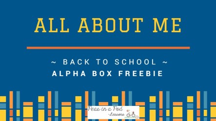 "Back to School Activities ~ ""All About Me"" Alpha Boxes http://peasinapodlessons.com/back-to-school-alpha-boxes/"