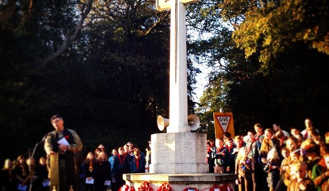 Remembrance Sunday at the Finchampstead War Memorial