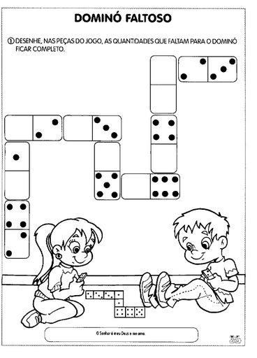 complete o dominó